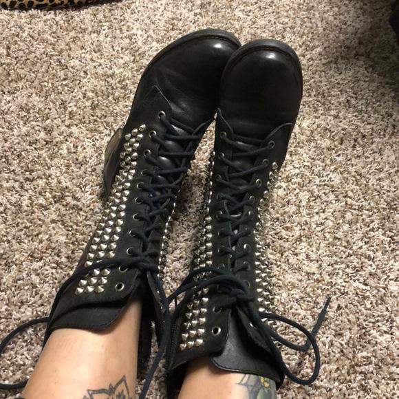 "Shoes - Steve Madden ""Tropador"" studded Combat boots"